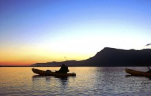 Kayaking on the Lagoon - one of many included activities at Lagoon Lodge