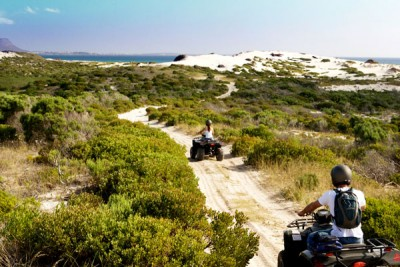 Quad-Biking - one of many included activities at Lagoon Lodge