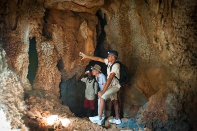 Guided explore of the caves