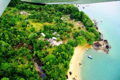 masoala beach lodge aerial