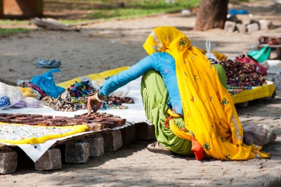 Jewellery seller, Fort Cochin