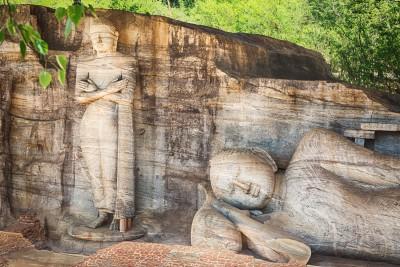 Polonnaruwa Buddha statues
