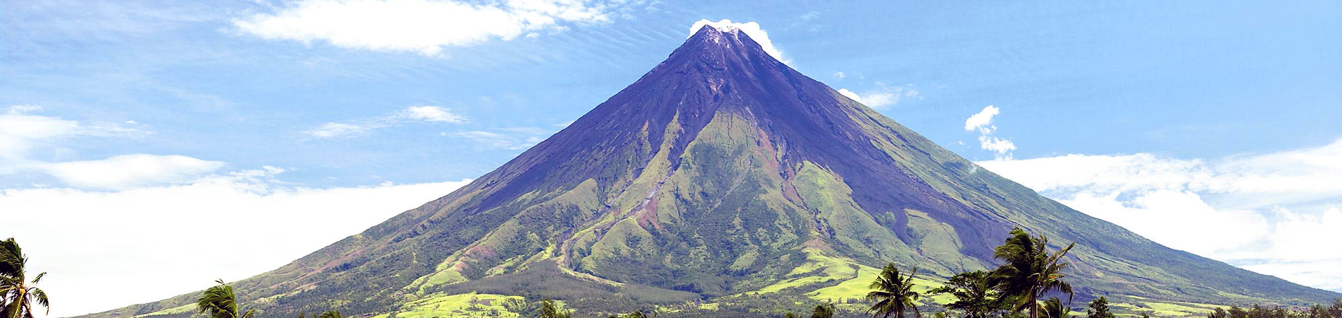 Philippines tourism PHI Mayon Volcano header