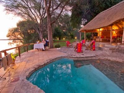 Romantic private dinners at Chundukwa River Lodge