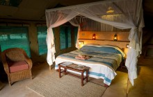 Luxury Tent interiors at Flatdogs Camp