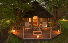 The chalets at Kanyemba Lodge