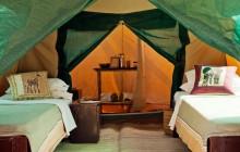 Tent interior & en-suite, Kilimatonge Camp