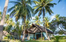 The beach bungalows at Butiama Beach, Mafia Island