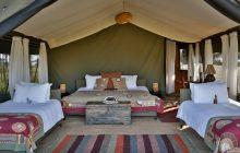The family tent at Chaka Camp