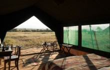View from your bed, Chaka Camp