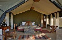 The tent interiors at Chaka Camp