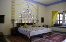 The varied suite interiors at Dera Mandawa