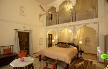 The duplex level suite interiors at Dera Mandawa