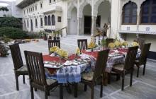 Courtyard dinners at Dera Mandawa