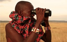 One of the Maasai trackers at Enkewa Mara