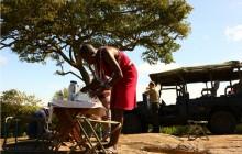Preparing a bush breakfast at Enkewa Mara