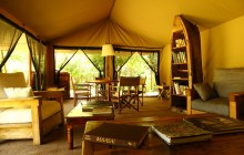 The chic bush lounge at Enkewa Mara