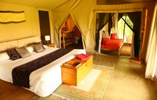 The spacious safari tents at Enkewa Mara