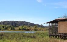 Cabana terrace facing the tsingy, Iharana Bush Camp