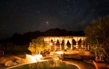 Pool at night, Iharana Bush Camp