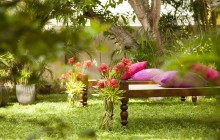 Grab a day bed in the beautiful gardens at Mango House