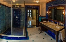 Regal bathrooms at the Royal Heritage Haveli