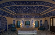 One of the lavish suites at Royal Heritage Haveli