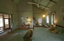 Cottage interior with mezzanine