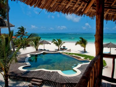 The swimming pool at Waterlovers, Diani Beach