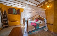 The chic suite interiors at Waterlovers, Diani Beach