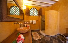 The bathrooms at Waterlovers, Diani Beach