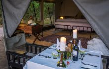 A romantic dinner on your private verandah!