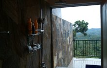 En-suite shower with a view, Jim's Farm Villas