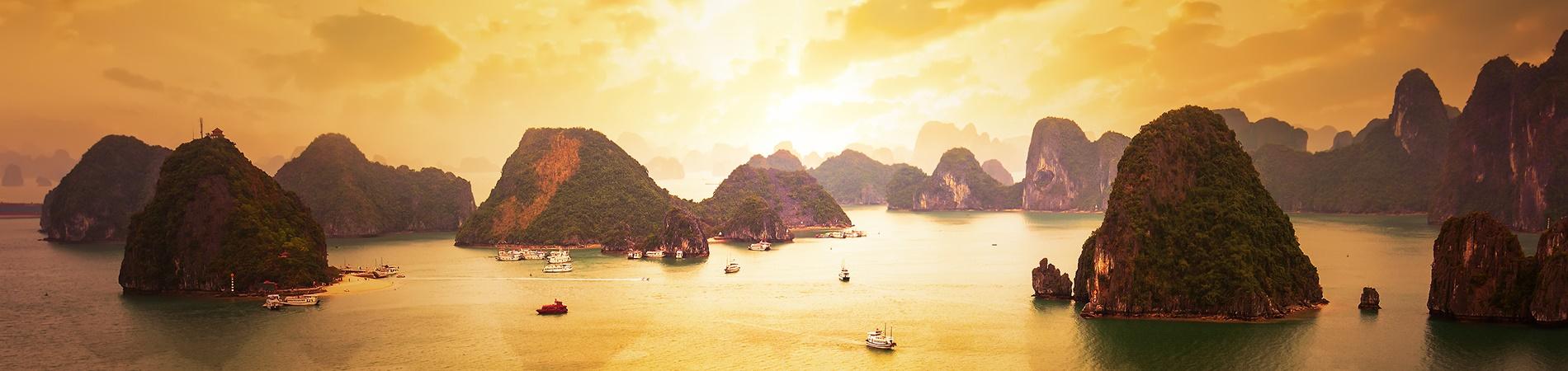 shutterstock_Vietnam Halong Bay Sunset 2 Header